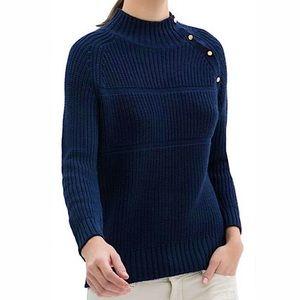 Zara Knit Women's Navy Blue Mockneck Sweater/S